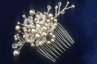Bronze and Crystal Hair Comb