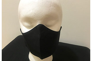 Black Unisex Fitted Face Mask