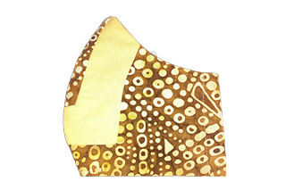 Ethnic Yellow and Brown Dot Face Mask