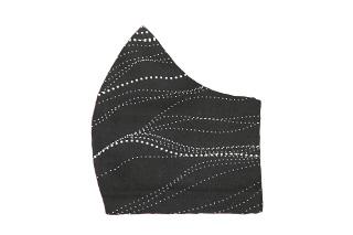 Aboriginal Print Black White Face Mask
