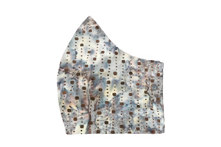 Brown Dots in Blue Sea Bespoke Face Mask